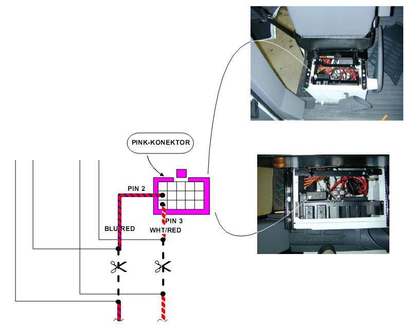 Za�o�enie sterownika centralnego zamka VW LT, Mercedes Sprinter