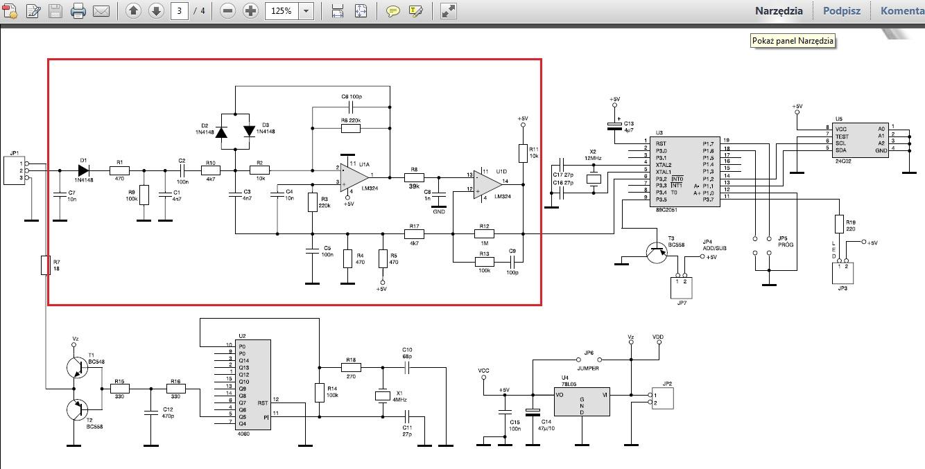 Kit AVT - 454 - funkcje poszczeg�lnych element�w