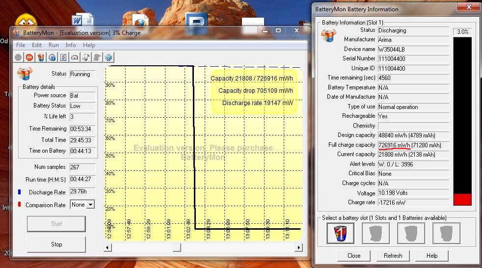 Dziwne parametry baterii - FCC 15x wy�sze od oczekiwanego