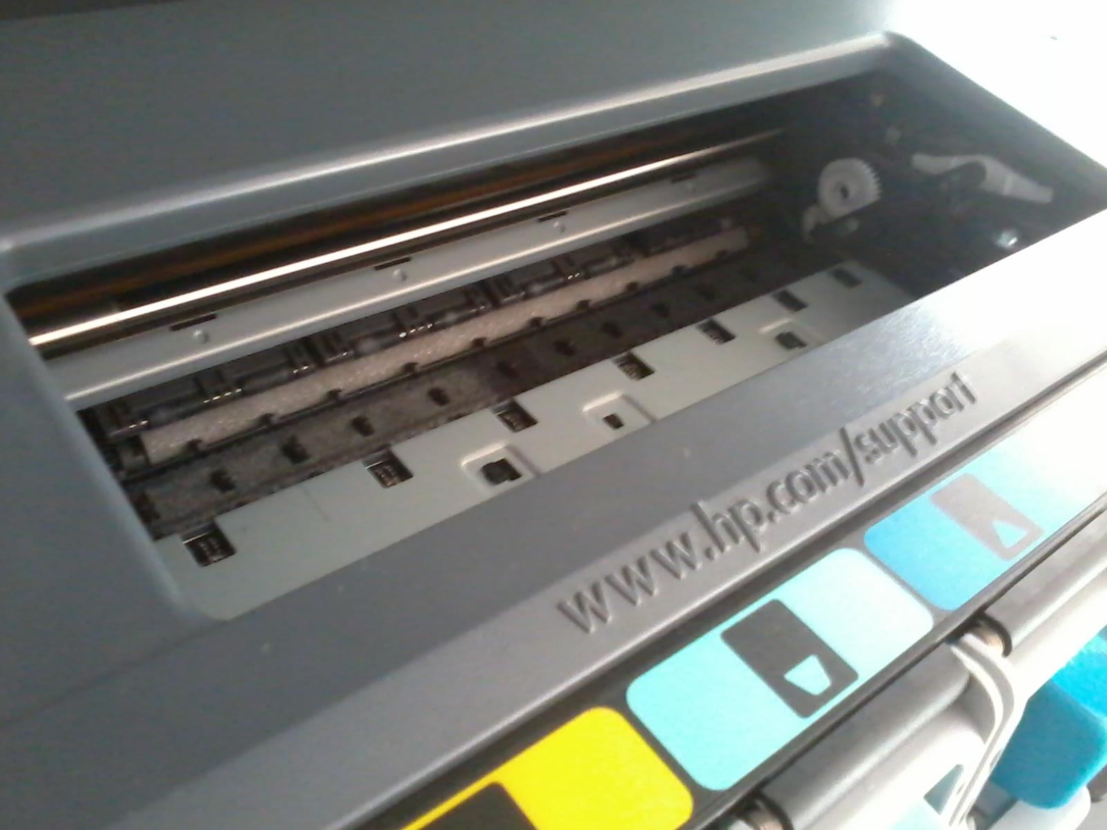 HP Photosmart C6280 - blokada karetki
