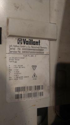 Blad F22 na piecu Vaillant