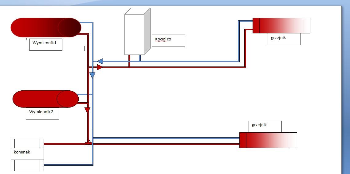 Schemat polaczenia instalacji ogrzewania.