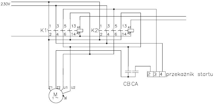 Pod��czenie i sterowanie silnika jednofazowego