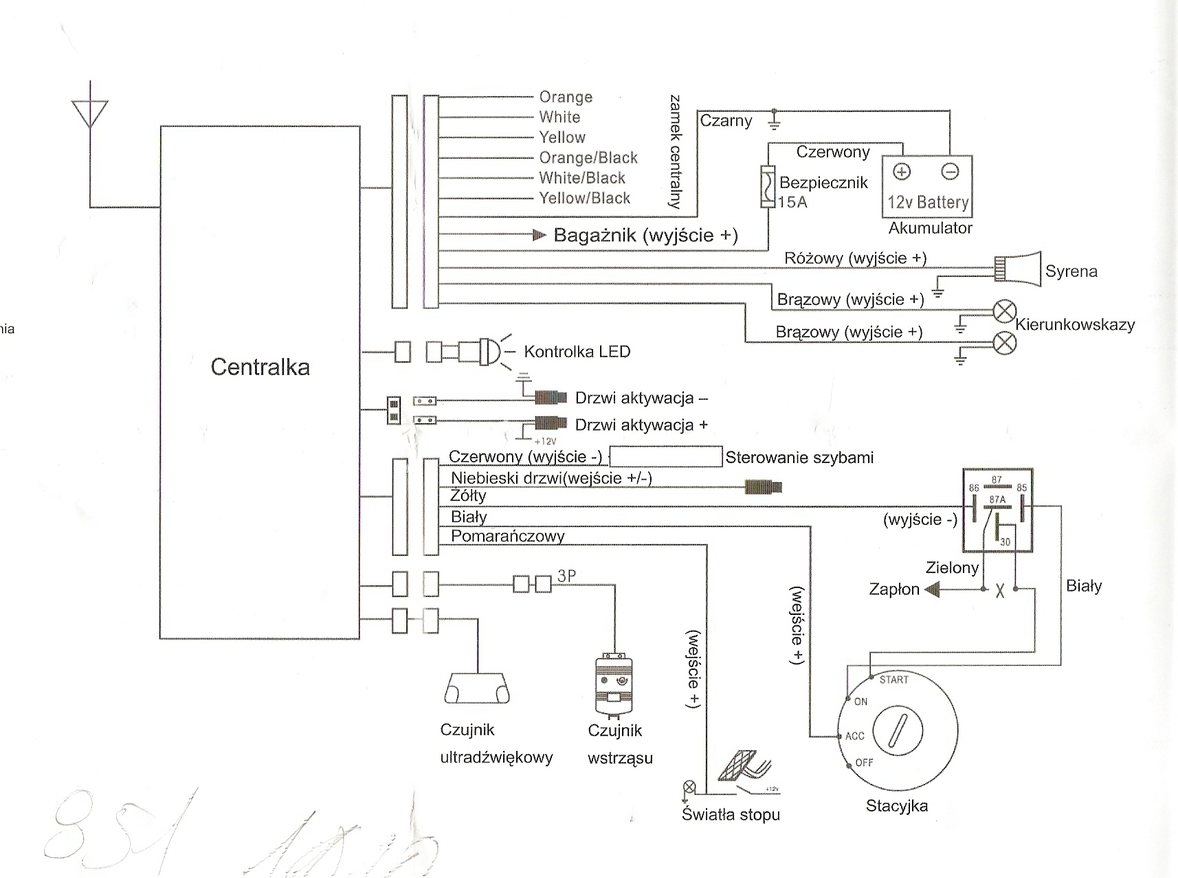 Audi A3 8L pilot zamka centralnego - elektroda.pl