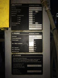 Wykrawarka Pullmax P 212 DMC, transmisja RS232, programowanie, język menu