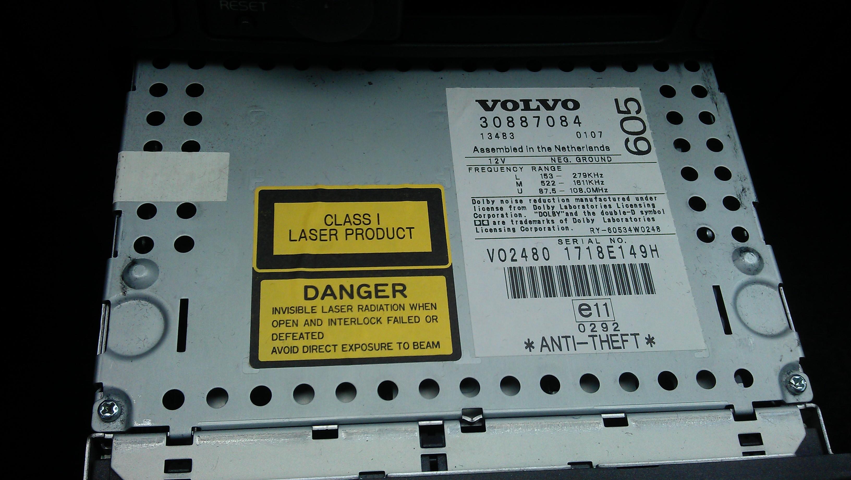 Volvo S40 2001 - HU-605 potrzebny kod lub bin