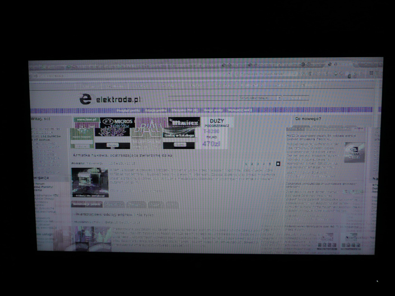LG 42lC2RR - Nieczytelny mrygaj�cy obraz, szum, artefakty graficzne
