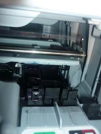 HP PSC 1510 ciągły wydruk strony startowej i czarny element
