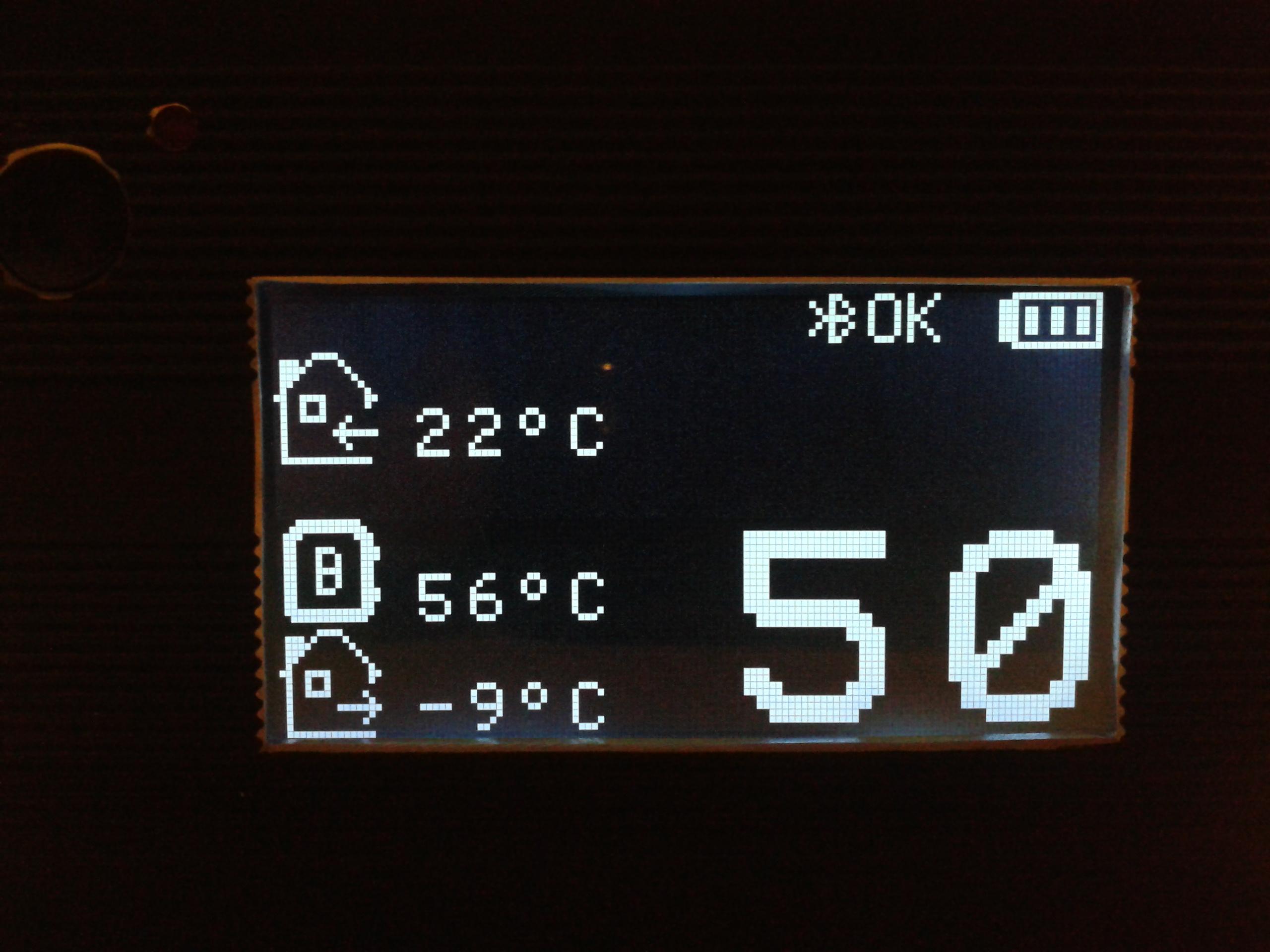 Panel zdalny do odczytu temperatur