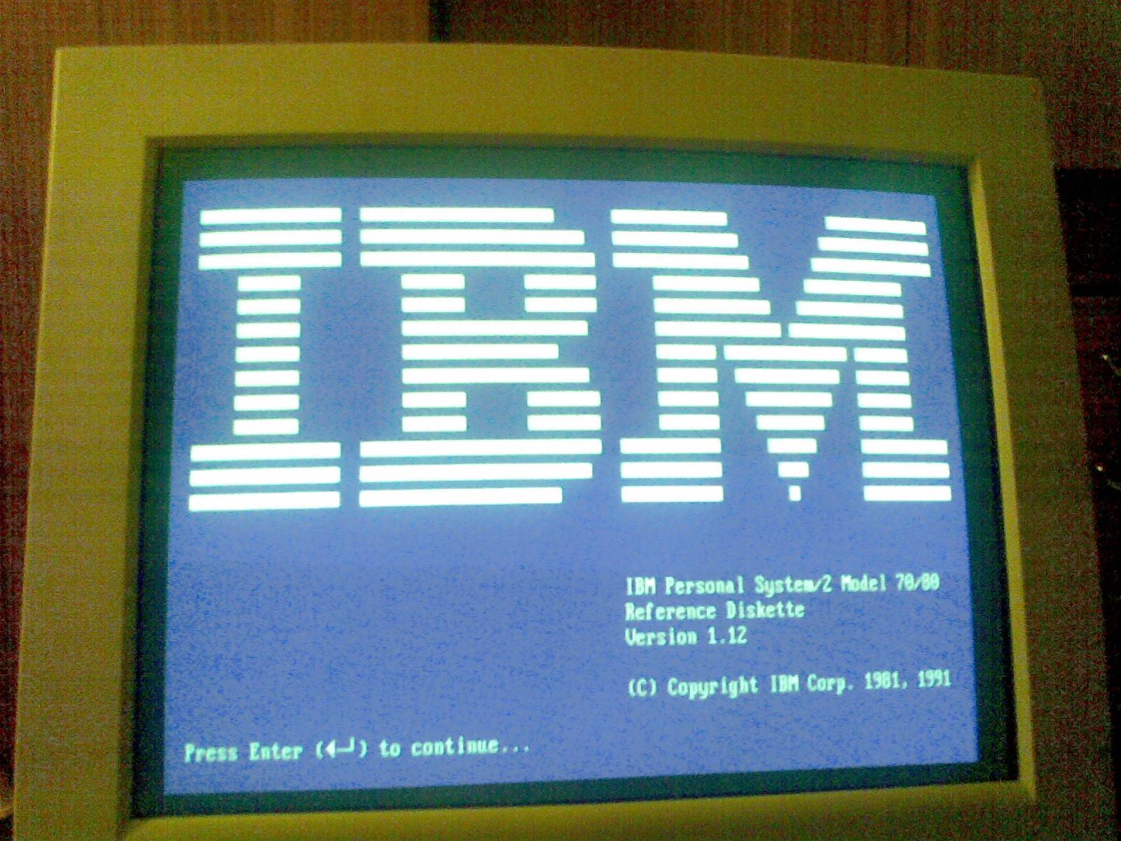 IBM intel 80386 @ 25 MHz, - Odpowied� po w��czeniu bios z basic