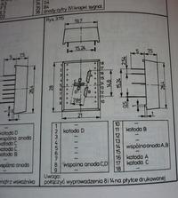 Poszukuję opisu wyprowadzeń wyświetlacza CQZP-15