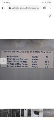 Panel fotowoltaiczny 50 W 12 V