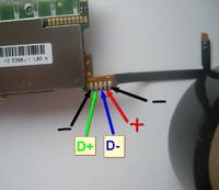 HUAWEI E398 - Urwany port USB - identyfikacja pinów na płycie