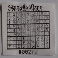 Sudoku - AVR + drukarka termiczna
