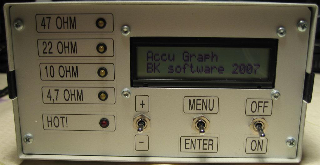 Accugraph, czyli tester akumulator�w NiCd, NiMh, LiPo