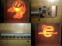 Ultra-du�y wy�wietlacz widmowy 64 LED SMD + Atmega 64 + PILOT