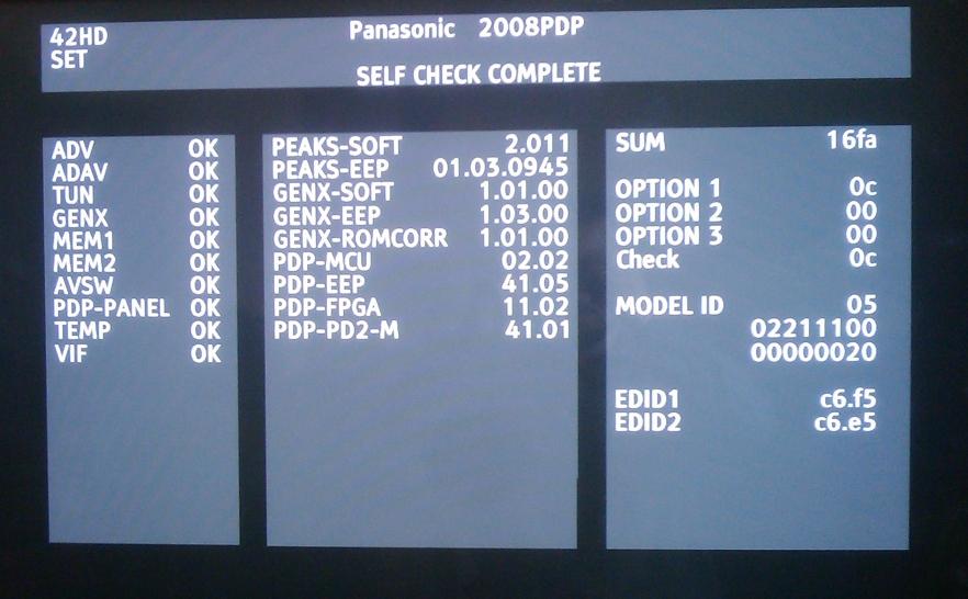Panasonic Viera TH-42PV80P - nie reaguje na HDMI