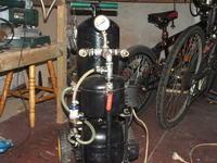 Ma�y kompresor warsztatowy z lod�wki