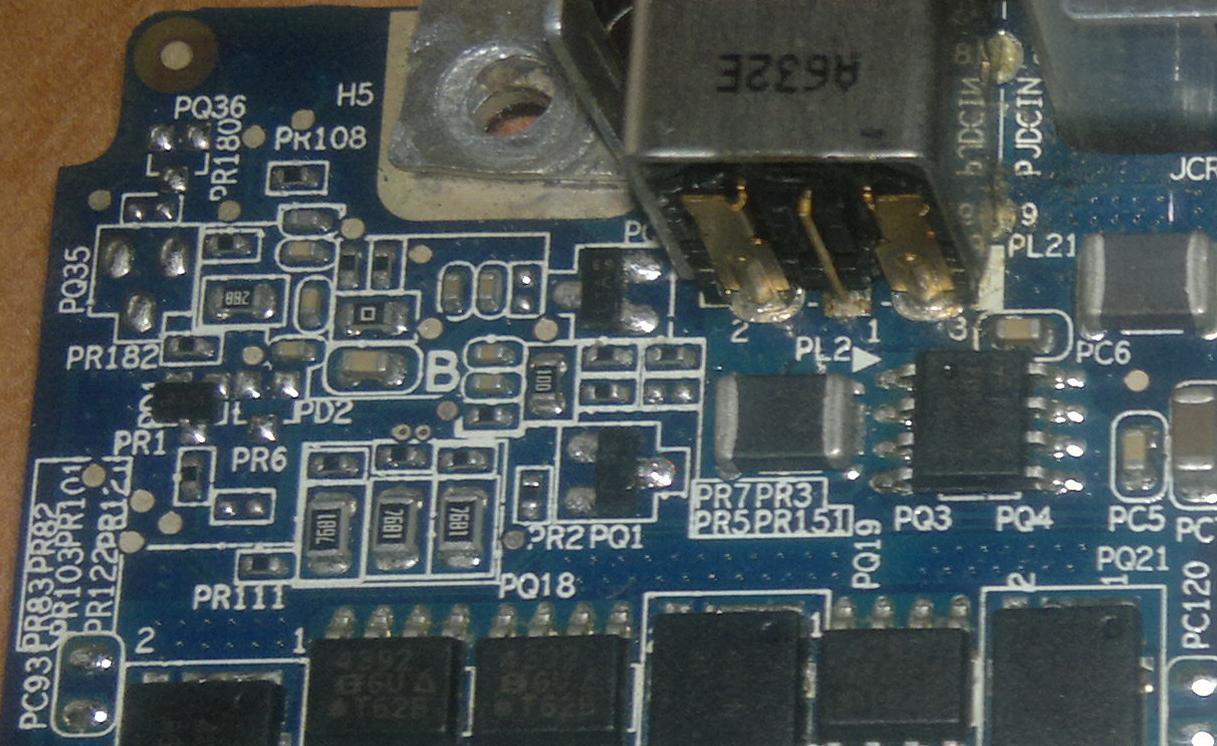 DELL XPS M1710 - Brak ładowania baterii (unknown AC adapter)