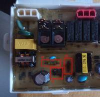 Samsung DMS400TUB - Nie grzeje wody, po kilkudziesięciu minutach pracy błąd F5