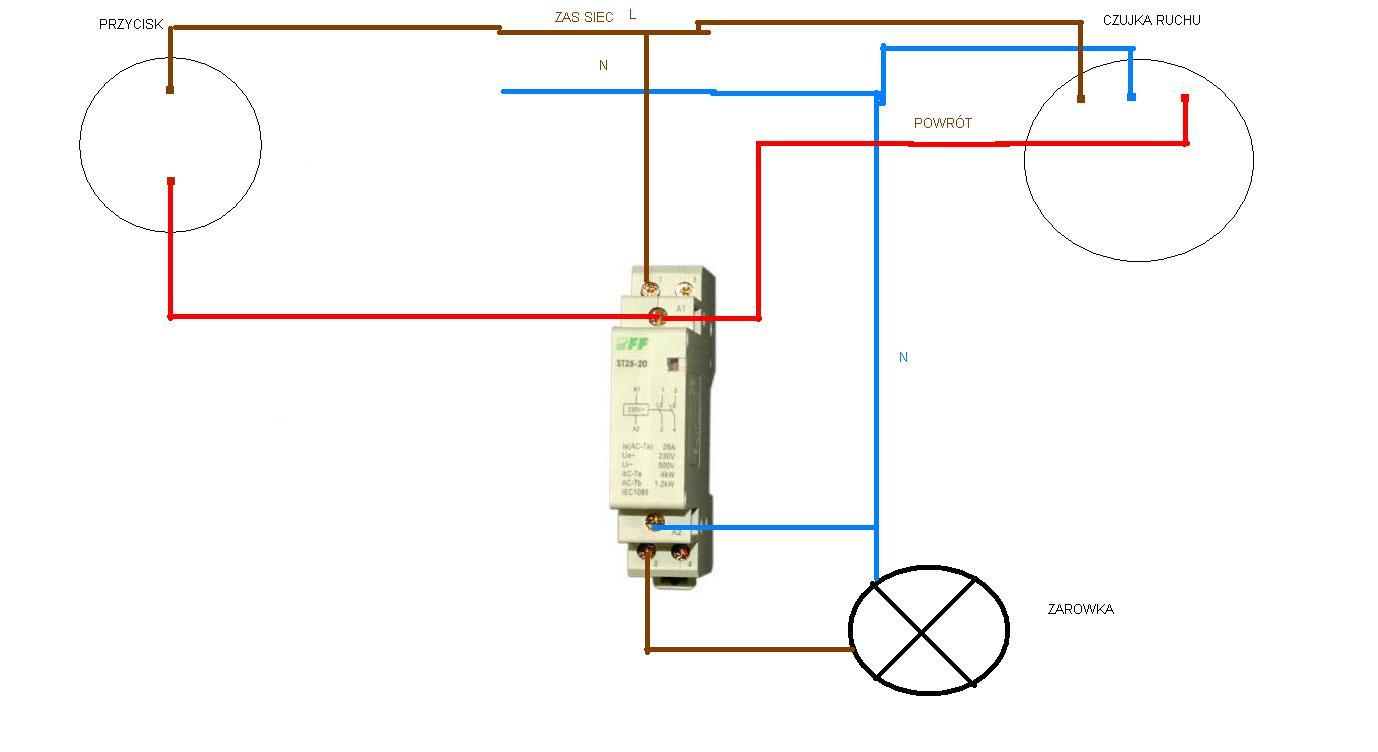 Stycznik typu np ST 20-25 F&F- schemat sterowania do sprawdzenia.