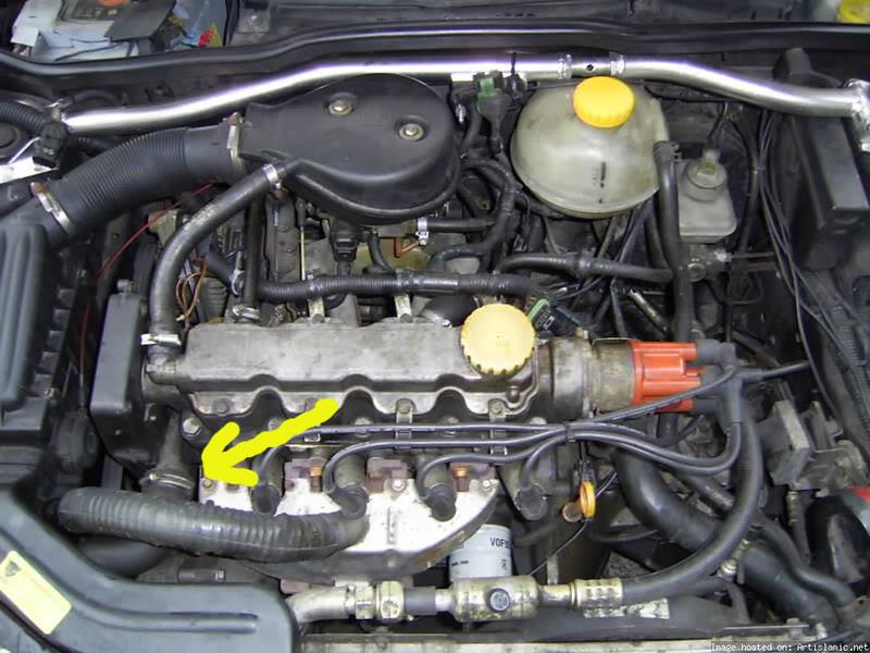 Opel corsa b 95r czujnik temperatury ecu nie pod��czony