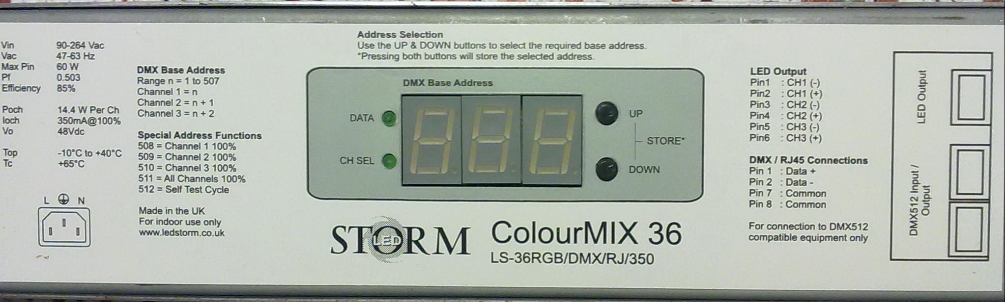 kontroler DMX - sterowanie pilotem