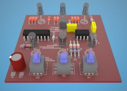 Eagle 3D i Pov Ray - Modele 3D Elementów