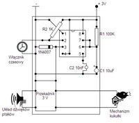Projekt zegara z kuku�k� - Timer NE555 z Przeka�nikiem