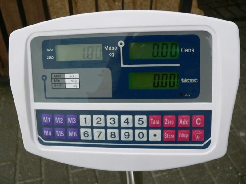 Waga tcs - Kalibracja wagi chi�skiej tcs