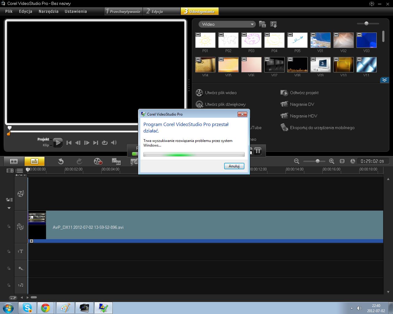 B��d w Videostudio ka�dego typu