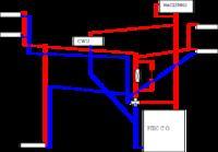 Schemat pod�aczenia piec c.o. z zasobnikiem z zaworem 4D w uk�adzie otwartym