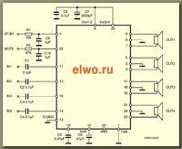 Pioneer PAL007B czy da się zmostkować? (TDA7560)
