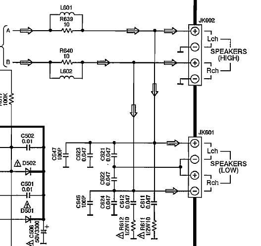 Panasonic SA-AK25 brak sygna�u audio dla g�o�nik�w niskotonowych