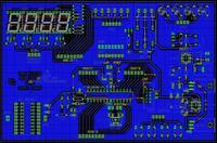 [EAGLE] Sprawdzenie PCB do atmega8