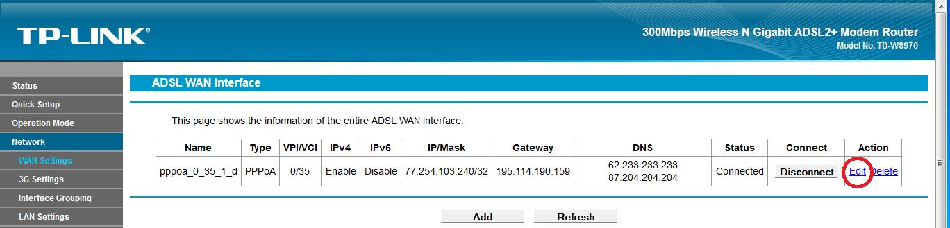 Tp-link TD-W8970 - Brak internetu, T-Mobile.