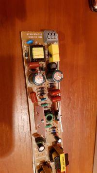 statecznik elektroniczny - okopcony rezystor