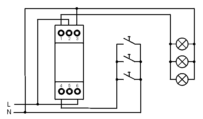 Automat schodowy + przekaznik bistabilny?