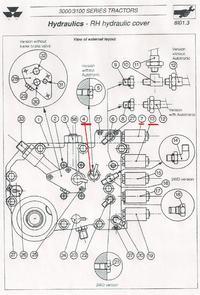 Massey Ferguson 3120 - gdzie znajduje się zawór od podnośnika??