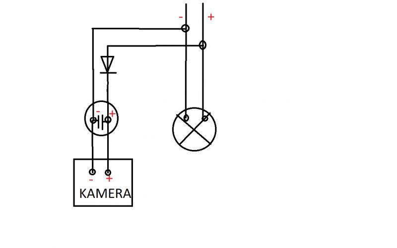 Kamera cofania - podtrzymanie działa kondenstorem