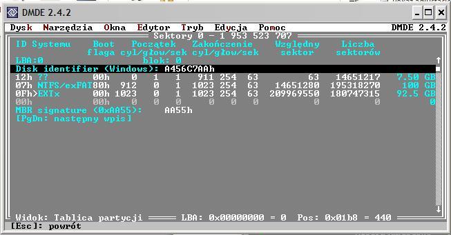 Odzyskanie danych z dysk�w spi�tych w RAID 0.
