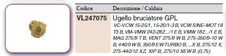 Vaillant Geyser Mag 275/9 XTZW - potrzebne dysze na LPG