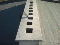Triset 113PE - przeprowadzenie przez przewód wentylacyjny - wyjście z komina