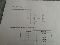 Obwód liniowy prądu stałego metoda potencjałów węzłowych w formie zapisu macierz