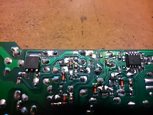 Ariston MBA4031NF - uszkodzony zasilacz w module.