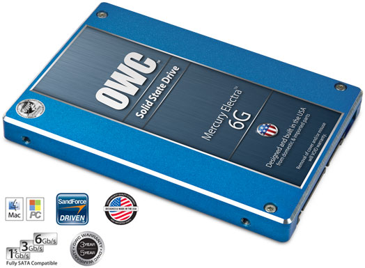 OWC Mercury Electra 6G - szybki dysk SSD z zapisem 523MB/s