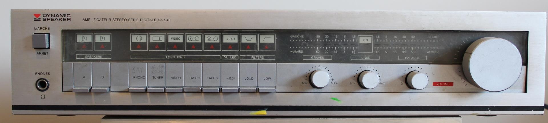 Wzmacniacz dynamic speaker SA940 odchudzony WS432