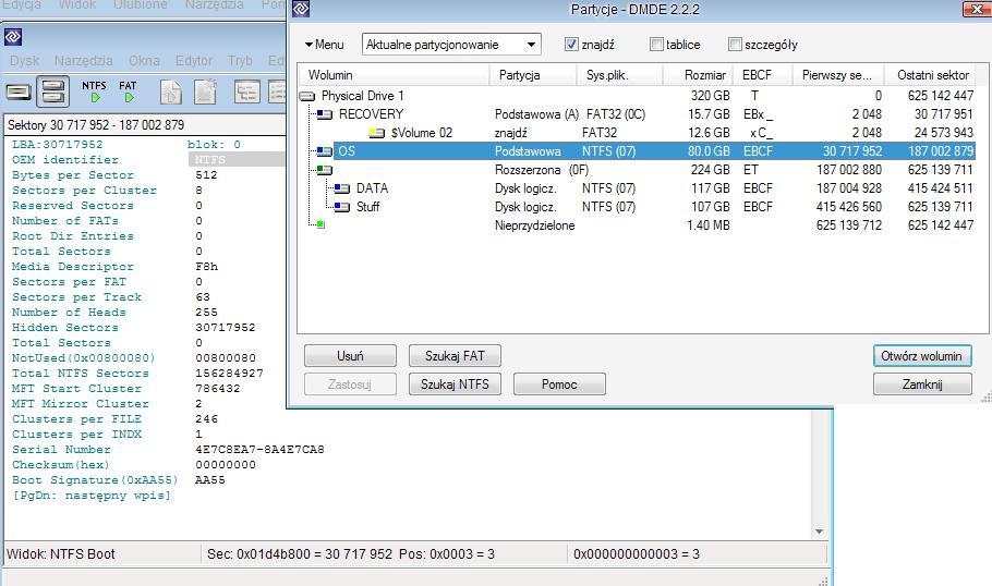 B��dy CRC, windows chce dysk sformatowa� - odzyskiwanie danych