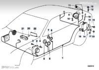 BMW e36 Compact - Zwrotnice do g�o�nik�w w drzwiach