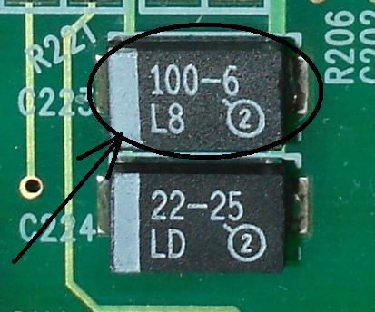Pro�ba o identyfikacj� kondensatora SMD.